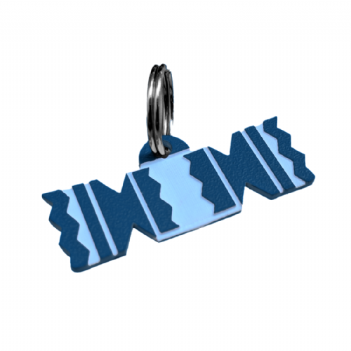 CHRISTMAS CRACKER Acrylic Shaped Dog  ID Tags - engraved on back